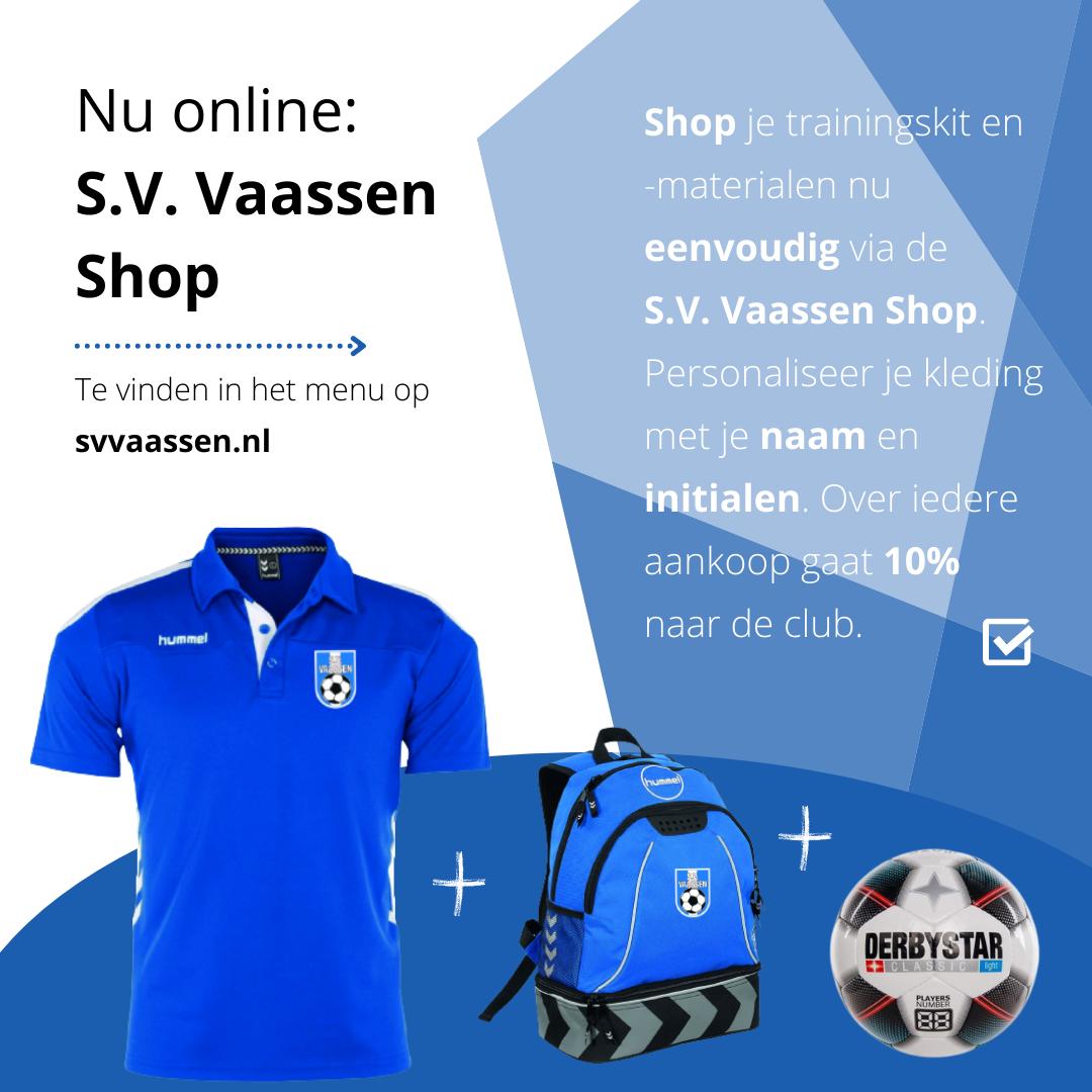 Nu online: De S.V. Vaassen Shop